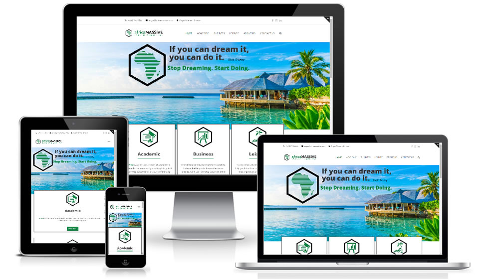 View the website for africaMASSIVE designed, hosted and maintained using WordPress